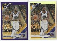 2019-20 Optic Draymond Green Purple & Silver Holo SP Lot No. 38