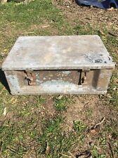 Vintage Galvanised Trunk/ Ammo Box