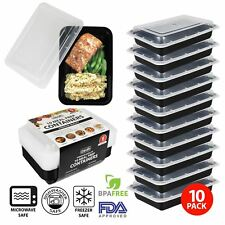 Meal Prep Food Containers Stack Microwavable BPA Free Plastic Lunch Box Lids