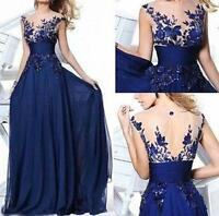 Formal Long Ball Gown Party Prom Bridesmaid Evening Dress Size Stock 6-16