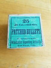 New listing Vintage Winchester Patched Bullets Ammunition Cartridge Box Shotshell Gun.
