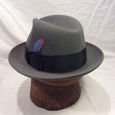 545295c12ff Charcoal Grey Dobbs Fedora Men s Hat with Black Band Vintage-- Size 6 7