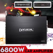 6800W Watt 4 Channel Car Amplifier Audio Bass Class AB Power Amp For  S