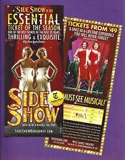 "Erin Davie ""SIDE SHOW"" Emily Padgett / Henry Krieger 2014 Broadway Revival Flyer"