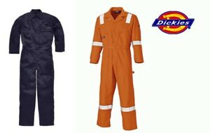 DICKIES DUPONT NOMEX FIRE RETARDANT LIGHTWEIGHT BOILER SUIT COVERALLS OVERALLS
