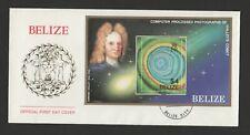 Belize 1986 Halley's Comet set of 2 FDC including souvenir sheet