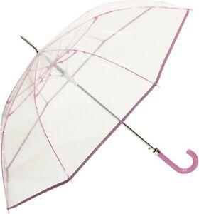 DUA Transparent Windproof Automatic Clear View Umbrella Multiple Colours