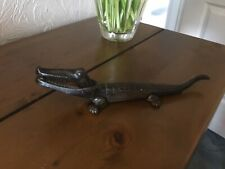 Vintage Cast Iron Crocodile Nutcracker