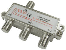 F-Connector Splitter 3 way F plug split satelitte sky ect signal into 3