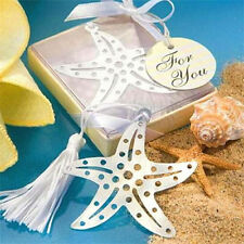 Elegant Starfish Creative Exquisite Alloy Bookmarks With Ribbon Box Gift