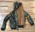 Walls Insulated Coat Jacket Youth XL 16-18 Reversible Realtree Camo Brown