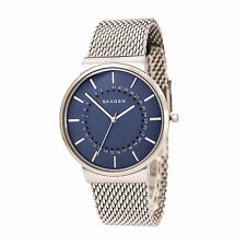 BRAND NEW SKAGEN SKW6234 ANCHER STAINLESS STEEL MESH STRAP BLUE DIAL MEN'S WATCH