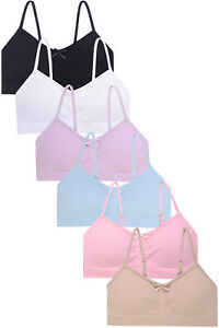 Popular Girls Adjustable Seamless Cami Bras with Removable Padding - Value Packs