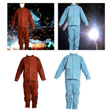 Cowhide Welding Clothing Fire Resistant Welder Jacket Shop Work Protective