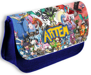 Personalised Any Name Pokemon Blue Pencil Case Make Up Bag School Kids 178