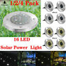Solar Power GroundLights Floor Decking Patio 16LED Outdoor Garden Lawn Path Lamp