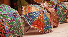 Indian Cotton Embroidery Parasol Sun Protect Umbrella Mandala Wholesale lot 10pc