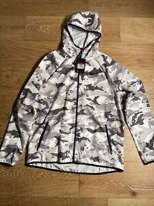 Nike Dry Camo Training Lightweight Jacket AQ1149-092 White / Gray SZ: Large $75