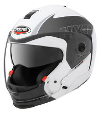 CABERG HYPER X MOD WHITE/ANTH CHIN REMOVAL MOTORCYCLE HELMET