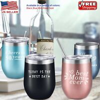 NEW Steel Stemless Wine Tumbler, 12 oz | Double Wall Vacuum Insulated US SELLER