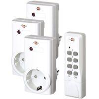 ! Brennenstuhl RCS 1000N Comfort Set 3x Funk Steckdosen Schalter & Fernbedienung