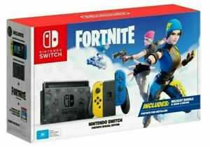 New Nintendo Switch Fortnite Special Edition - Wildcat Bundle RARE! REGION FREE