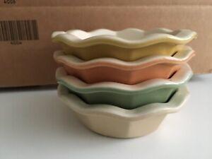 """(4) Emile Henry Williams Sonoma Pie Quiche Dish Ramekin Mini 5.5"""" Stoneware mult"""