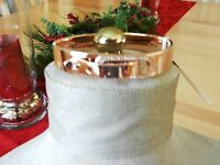 Michael Kors Rose Goldtone Crystal Buckle Bangle Bracelet MSRP $125