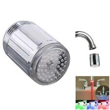 Novelty 7 Color RGB Colorful LED Light Water Glow Faucet Tap Head LED New GA