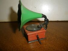 Vintage Metal Pencil Sharpener OLD FASHIONED RECORD PLAYER