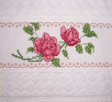 Hand Towel, Counted Cross Stitch | HANDMADE | FREE SHIPPING