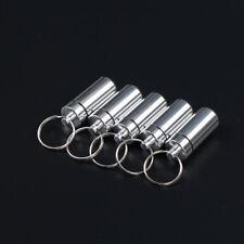 5 portachiavi in alluminio impermeabile porta pillole contenitore porta farmaciX