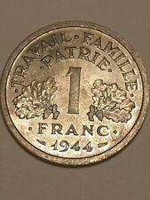 1 franc bazor 1944 lettre b atelier de Beaumont le Roger spl