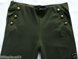 BNWT NEXT wide leg jersey khaki soft waist Pallazo casual work stretch trousers