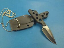 sharp Full Tang 58HRC necklace G10 utility rescue survival hunting knife CT450