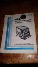Tennant 432 Power Scrubber operation maintenance and parts manual book guide