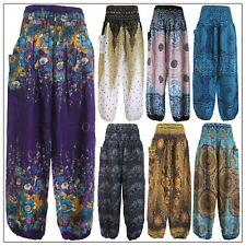 Women Harem Pants Baggy Hippie Bohemian Boho Yoga Aladdin Genie Trousers Unisex