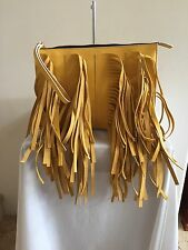 New $1,250 MARNI Yellow Fringe Clutch/ Shoulder Bag Handbag