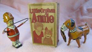 Orphan Annie Skips Rope, Sandy Carries Valise, Marx, with Original Box