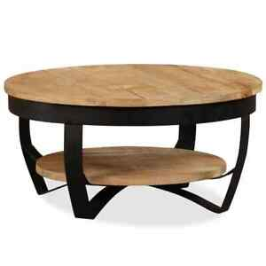 vidaXL Solid Rough Mango Wood Coffee Table Side Living Room Furniture Stand