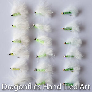 18 Cats Whisker,Bead Eye & Gold Head Trout Fly Fishing Flies Dragonflies