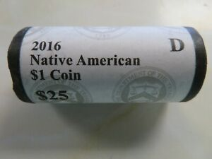 2016 D Roll of the Native American Sacagawea U S Mint Wrapped