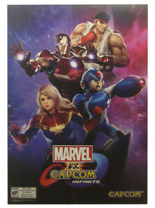 Marvel Vs Capcom Infinite E3 Expo Exclusive Poster 2017 Megaman Iron Man Ryu
