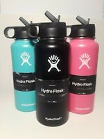 New Hydro Flask Water Bottle Stainless Steel With Straw Lid 32oz Multiple Colors