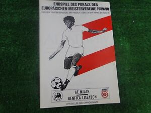 1990 EUROPEAN CUP FINAL AC MILAN V BENFICA