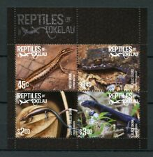Tokelau 2017 MNH Reptiles of Tokelau Skinks Geckos 4v M/S Lizards Stamps