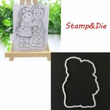 CLEAR STAMPS&DIE CUTTER*GIRL & BOY*Birthday*Cards*Toppers*