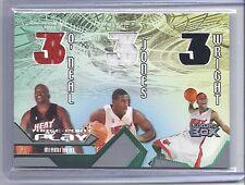 04-05 Luxury Box O'Neal/Jones/Wright Three-Point Play Heat Jersey Card #373/450