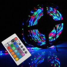 5M/16FT 3528 LED Strip Light 300 RGB+24K IR Remote Control+12V/2A Power Supply