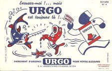 BUVARD Pansement URGO + Excusez-moi ! ... N° 4 + Poisson scie et étoile de mer